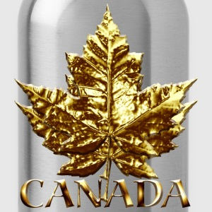 Cool Canada Hoodie Cool Chrome Gold Canada Maple Leaf Hoodie - Water Bottle
