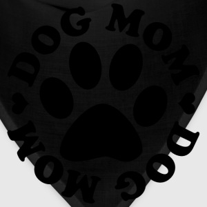 Dog Mom Paw T-Shirts - Bandana