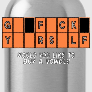 GFY Would you like to buy a vowel? Women's T-Shirts - Water Bottle
