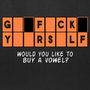 GFY Would you like to buy a vowel? Women's T-Shirts - Tote Bag