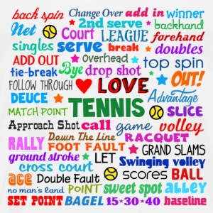 Tennis Terms Shirt Tanks - Men's Premium T-Shirt