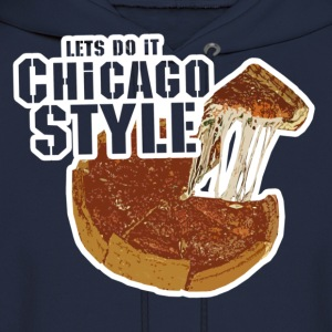 Chicago Style Pizza T-Shirts - Men's Hoodie