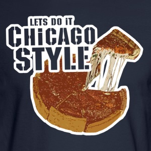 Chicago Style Pizza T-Shirts - Men's Long Sleeve T-Shirt