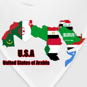 United States of Arabia (Black Text) T-Shirts - Bandana
