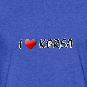 I LOVE KOREA - Fitted Cotton/Poly T-Shirt by Next Level