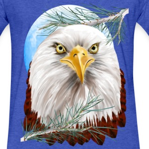 Eagle In The Pines - Fitted Cotton/Poly T-Shirt by Next Level