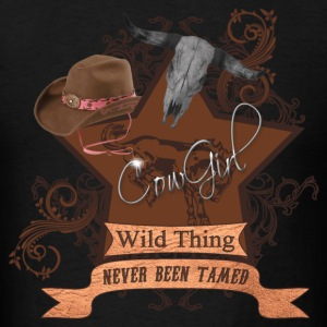 CowGirl Wild Thing never been tamed Hoodies - Men's T-Shirt