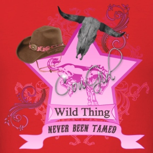 CowGirl Wild Thing never been tamed Pink Hoodies - Men's T-Shirt