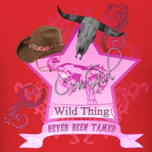 CowGirl Wild Thing never been tamed PinkFull Hoodies - Men's T-Shirt