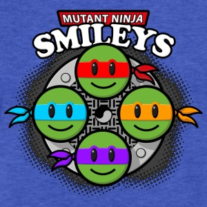 Mutant Ninja Smileys V2 (dd print) Sweatshirts - Fitted Cotton/Poly T-Shirt by Next Level
