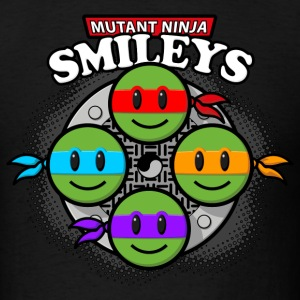 Mutant Ninja Smileys V2 (dd print) Long Sleeve Shirts - Men's T-Shirt