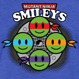Mutant Ninja Smileys V1 (dd print) Sweatshirts - Fitted Cotton/Poly T-Shirt by Next Level