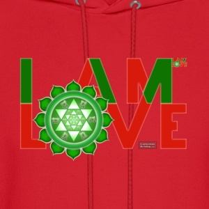I Am Love - 2-line (Women's - slim-fit tee) - Men's Hoodie