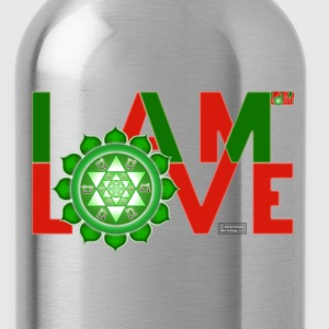 I Am Love - 2-line (Women's - slim-fit tee) - Water Bottle