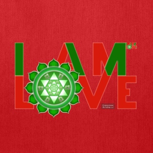 I Am Love - 2-line (Women's - slim-fit tee) - Tote Bag