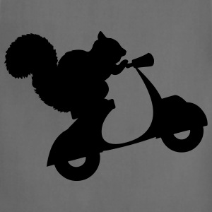 Squirrel on Scooter T-Shirts - Adjustable Apron