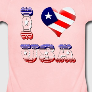 I Love USA - Short Sleeve Baby Bodysuit