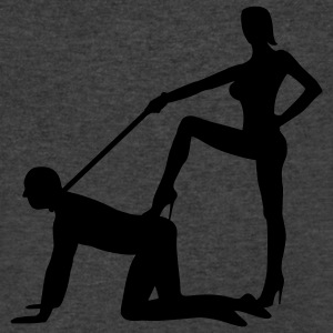 scenes from a marriage dominatrix domina whip lash high heel bachelor party bachelorette wedding leash Long Sleeve Shirts - Men's V-Neck T-Shirt by Canvas