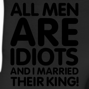All men are idiots and I married their king! V2 Women's T-Shirts - Leggings