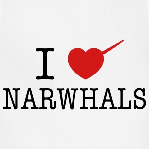 I Heart Narwhals T-Shirts - Adjustable Apron