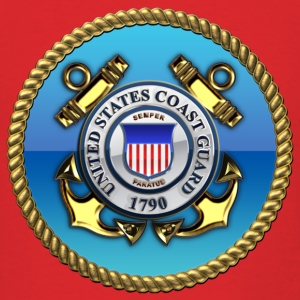 US Coast Guard (USCG) Emblem - Men's T-Shirt