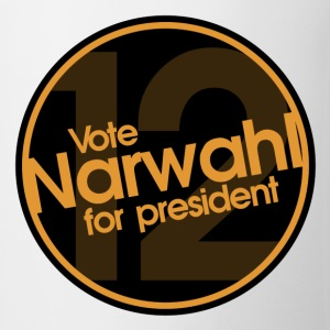 Vote Narwhal Round Orange T-Shirts - Coffee/Tea Mug
