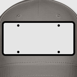 plain licence plate WRITE YOUR OWN T-Shirts - Baseball Cap