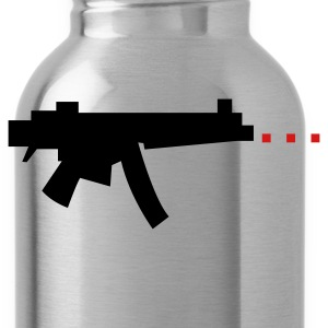 digital gun firing rectangle bullets Zip Hoodies/Jackets - Water Bottle