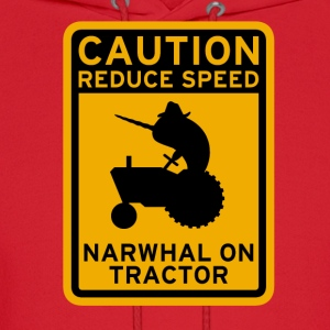 Narwhal Tractor T-Shirts - Men's Hoodie