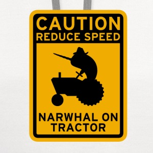 Narwhal Tractor T-Shirts - Contrast Hoodie