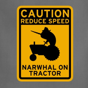 Narwhal Tractor Women's T-Shirts - Adjustable Apron