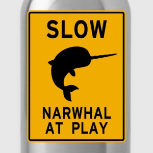 Narwhal at play Long Sleeve Shirts - Water Bottle