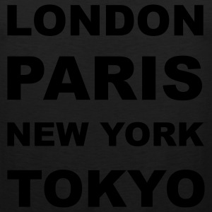 London, Paris, New York, Tokyo T-Shirts - Men's Premium Tank