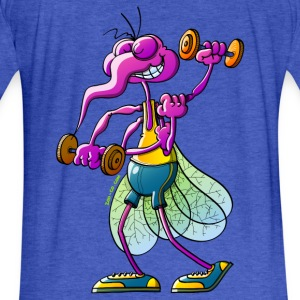Mosquito Lifting Weights Sweatshirts - Fitted Cotton/Poly T-Shirt by Next Level