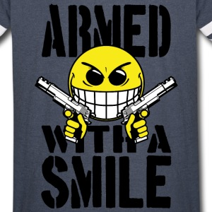 Armed with a smile Hoodies - Vintage Sport T-Shirt