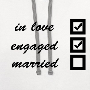 in love, engaged, married Women's T-Shirts - Contrast Hoodie