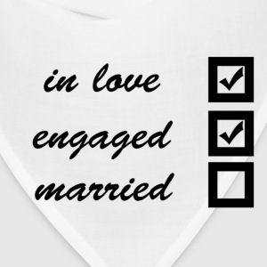 in love, engaged, married Women's T-Shirts - Bandana
