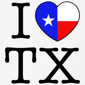 I Heart Texas Hoodie - Men's T-Shirt