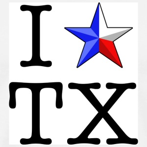 I Heart Texas Hoodie - Men's Premium T-Shirt