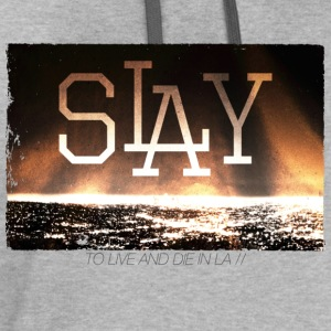 slay - to live and die in LA the best - Contrast Hoodie