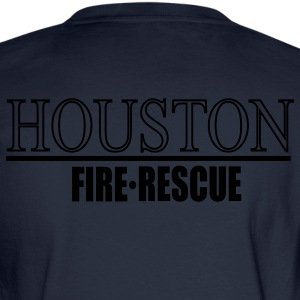 Houston Fire Rescue Back - Men's Long Sleeve T-Shirt