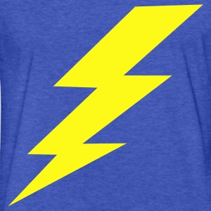 Lightning Bolt Sweatshirts - Fitted Cotton/Poly T-Shirt by Next Level
