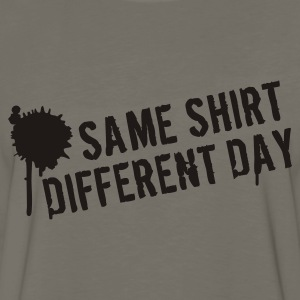 Same shirt different day T-Shirts - Men's Premium Long Sleeve T-Shirt