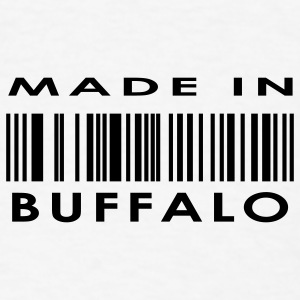 Made in Buffalo  Buttons - Men's T-Shirt