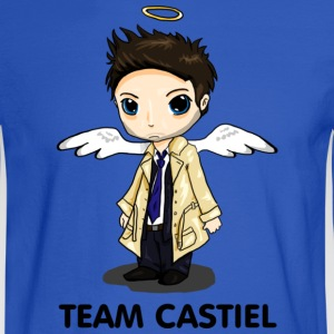 Team Castiel (light) Hoodies - Men's Long Sleeve T-Shirt
