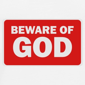 beware of GOD Buttons - Men's Premium T-Shirt