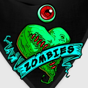 eye heart zombies green women - Bandana