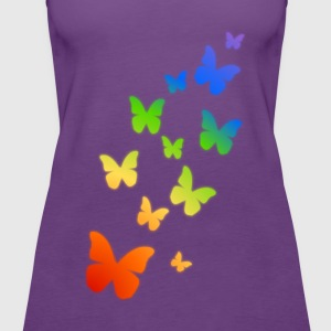 Rainbow Butterflies - Women's Premium Tank Top