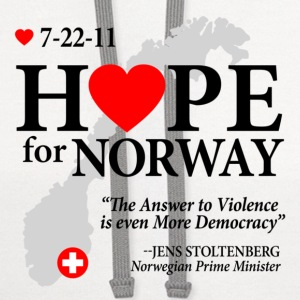 Hope for Norway Buttons - Contrast Hoodie