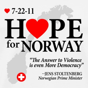 Hope for Norway Buttons - Men's Premium T-Shirt